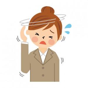 自律神経のバランスを崩している女性のイラスト