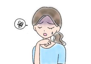 体調不良の女性のイラスト