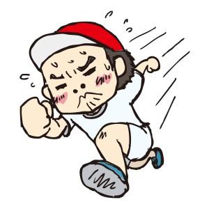 走る少年のイラスト