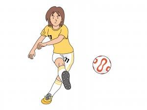 サッカーをする少年のイラスト