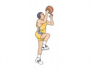 バスケットをする少年のイラスト