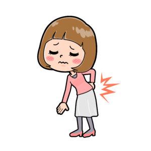 腰が痛いの女性