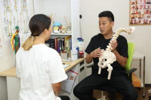 腰の状態の説明
