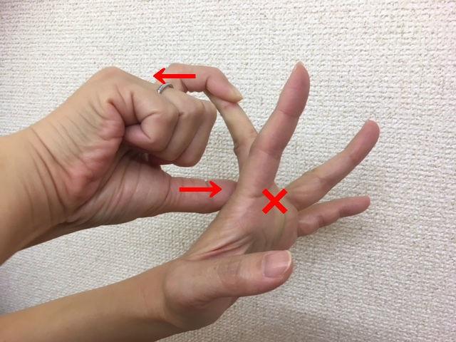 ばね指のストレッチ