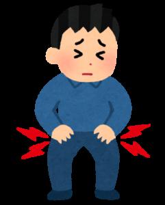 股関節が痛い男性